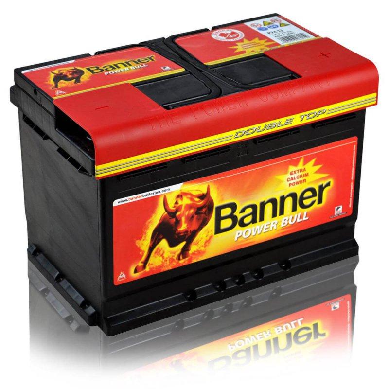 banner autobatterie power bull p7412 74ah. Black Bedroom Furniture Sets. Home Design Ideas