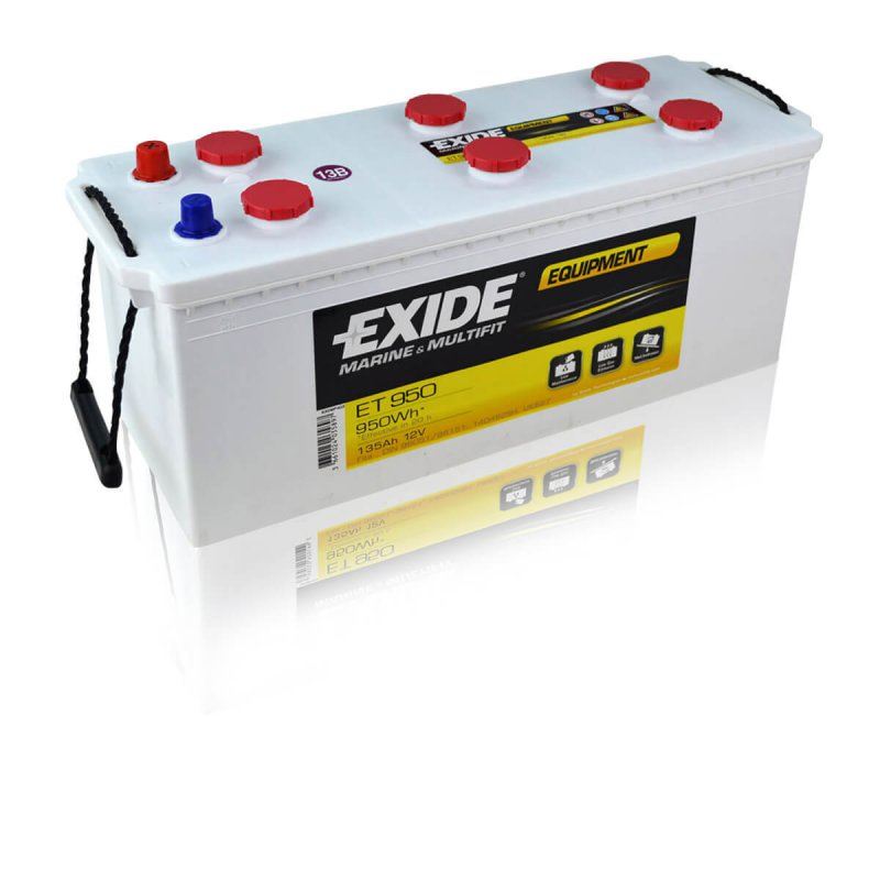 Exide ET950 Equipment (Semi-traction) 135Ah (DIN 96151 ersetzt DIN 96051)