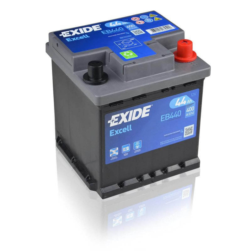Exide Excell EB440 44Ah Autobatterie