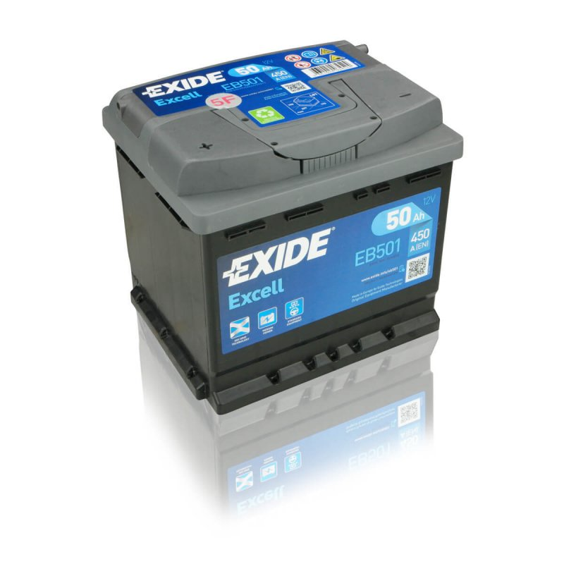Exide Excell EB501 50Ah Autobatterie