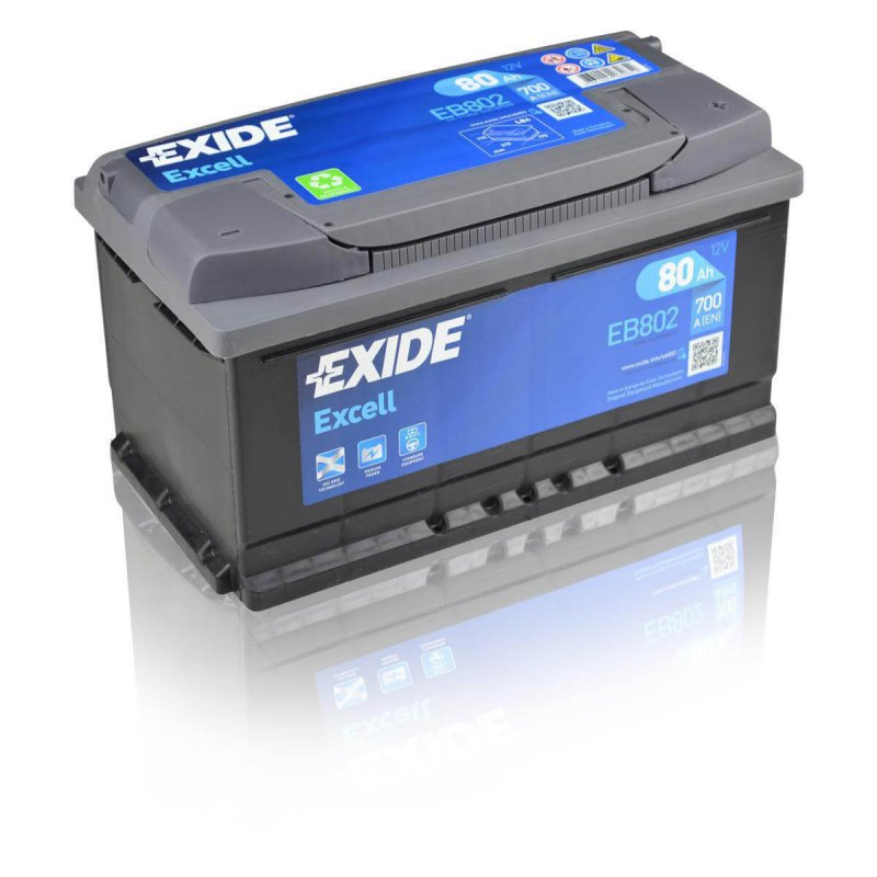 Exide Excell EB802 80Ah Autobatterie