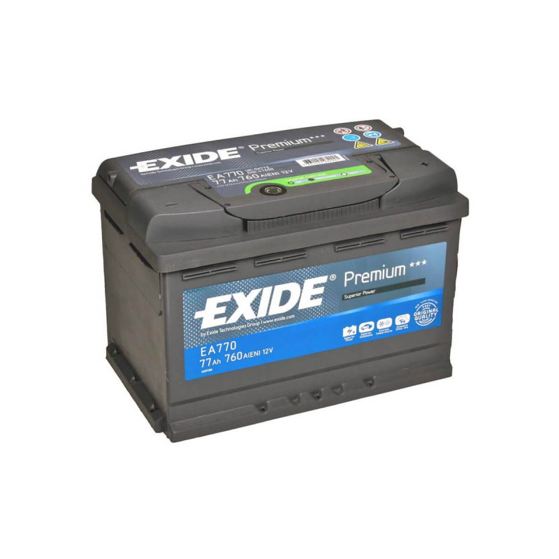 exide autobatterie premium superior power ea770 77ah. Black Bedroom Furniture Sets. Home Design Ideas