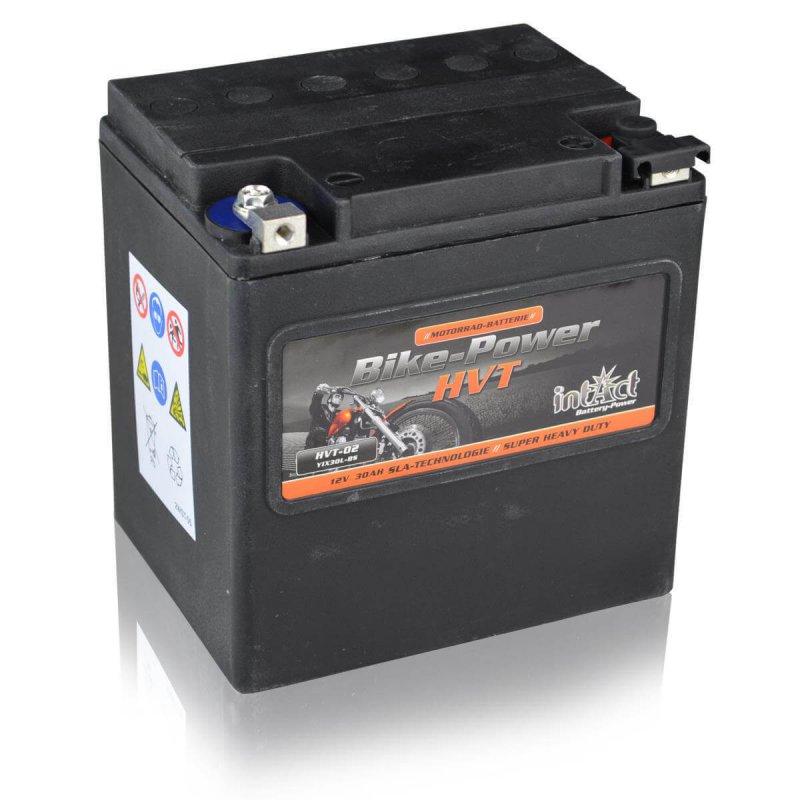 intact motorradbatterie bike power hvt hvt 02 30ah din 83000 yix30l bs. Black Bedroom Furniture Sets. Home Design Ideas