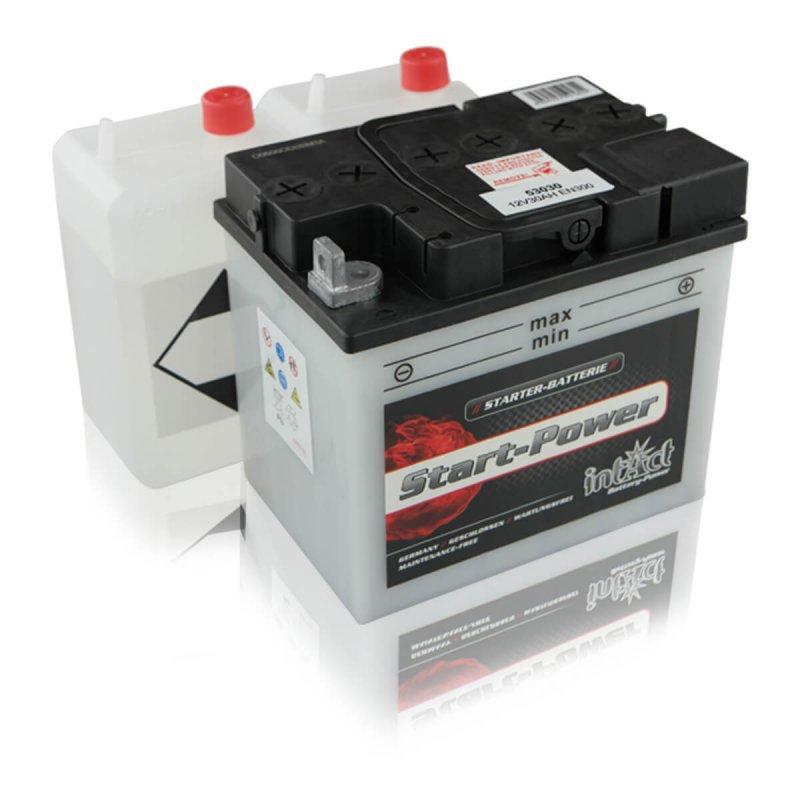 intact start power 53030 motorradbatterie 30ah din53030. Black Bedroom Furniture Sets. Home Design Ideas