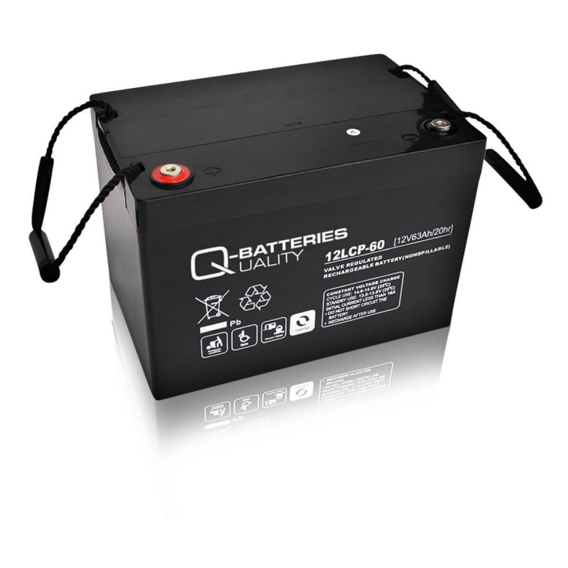 Q-Batteries 12LCP-60 Deep Cycle 63Ah