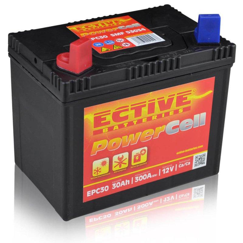 rasentraktor batterie 30ah din 53034 powercell smf. Black Bedroom Furniture Sets. Home Design Ideas