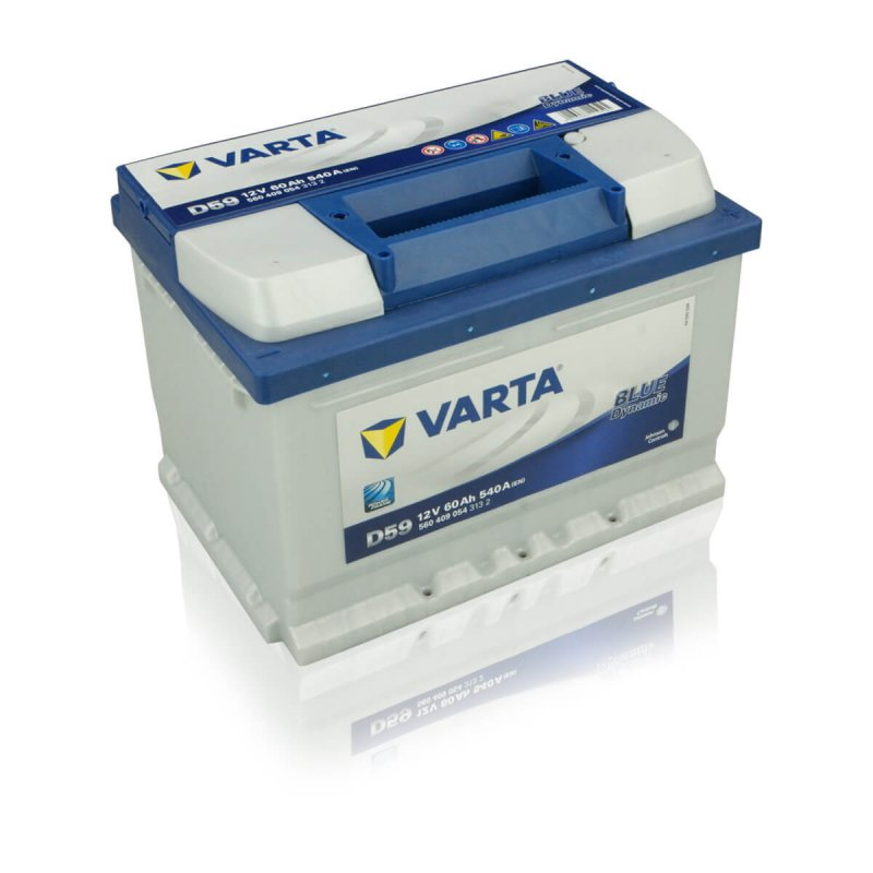 varta blue dynamic d59 60ah autobatterie. Black Bedroom Furniture Sets. Home Design Ideas