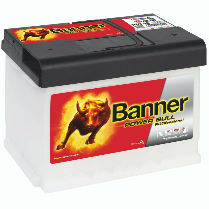 banner autobatterie power bull professional p6340 63ah. Black Bedroom Furniture Sets. Home Design Ideas