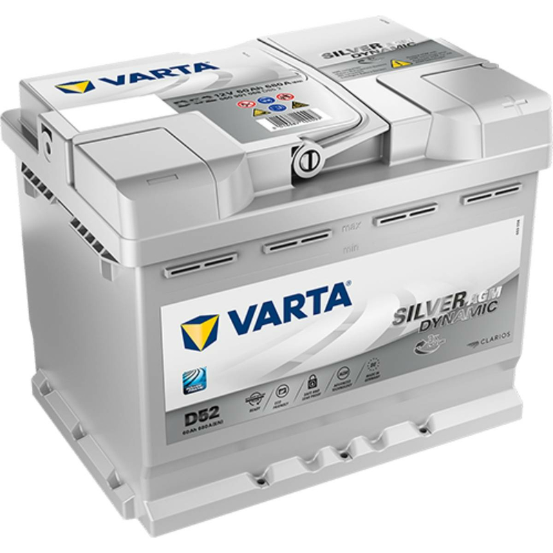 Varta Agm Batterie Start Stop Plus D52 60ah Vrla