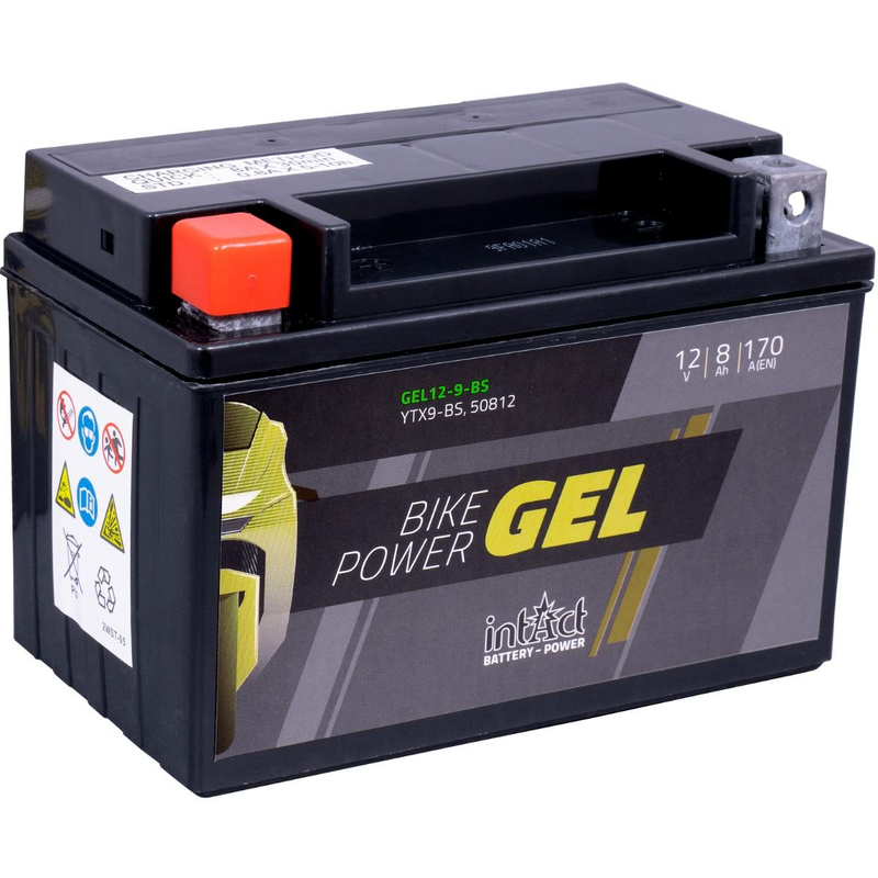 Intact Bike-Power GEL Motorradbatterie GEL12-9-BS 8Ah (DIN 50812) YTX9-BS