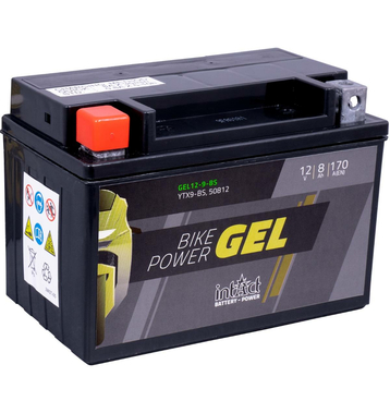 Intact Bike-Power GEL Motorradbatterie GEL12-9-BS 8Ah...