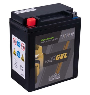 Intact Bike-Power GEL Motorradbatterie GEL12-12A-4A1 12Ah...