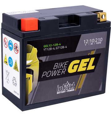 Intact Bike-Power GEL Motorradbatterie GEL12-12B-4 10Ah...