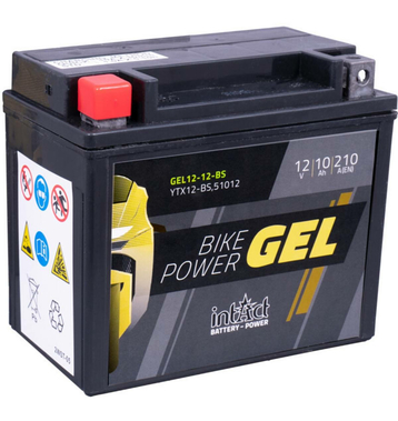 Intact Bike-Power GEL Motorradbatterie GEL12-12-BS 10Ah...