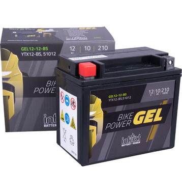 Intact Bike-Power GEL Motorradbatterie GEL12-12-BS 10Ah (DIN 51012) YTX12-BS