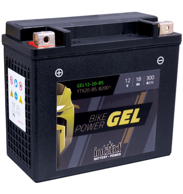 Intact Bike-Power GEL Motorradbatterie GEL12-20-BS 18Ah...
