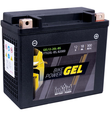 Intact Bike-Power GEL Motorradbatterie GEL12-20L-BS 18Ah...