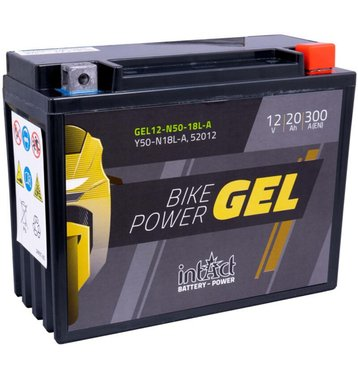 Intact Bike-Power GEL Motorradbatterie GEL12-N50-18L-A...