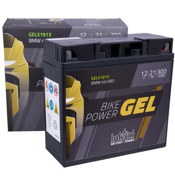 Intact Bike-Power GEL Motorradbatterie GEL51913 21Ah (DIN 51913) G19