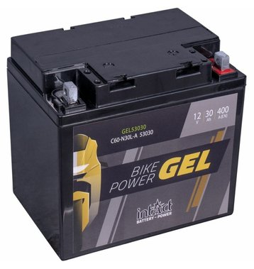 Intact Bike-Power GEL Motorradbatterie GEL53030 30Ah (DIN...