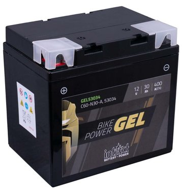 Intact Bike-Power GEL Motorradbatterie GEL53034 30Ah (DIN...