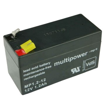 multipower MP1,2-12 12V 1,2Ah Bleiakku
