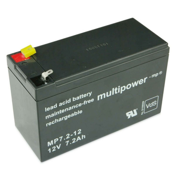 multipower MP7,2-12 12V 7,2Ah Bleiakku