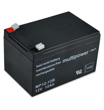 multipower MP12-12B 12V 12Ah Bleiakku