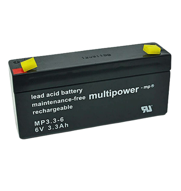 multipower MP3,3-6 6V 3,3Ah Bleiakku