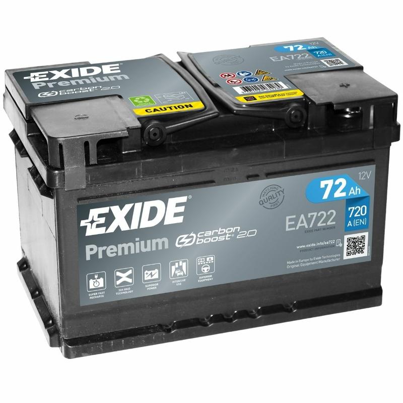 Exide Ea722 Premium Carbon Boost Jetzt Online Kaufen