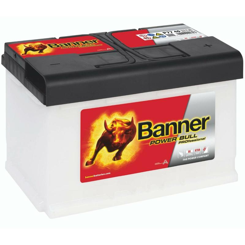 banner autobatterie power bull professional p7740 77ah. Black Bedroom Furniture Sets. Home Design Ideas