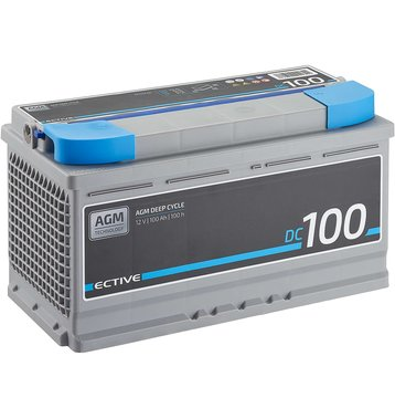 ECTIVE DC 100 AGM Deep Cycle 100Ah Versorgungsbatterie