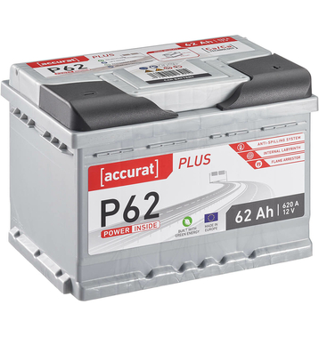 ECTIVE EPC62P PowerCell Plus 62Ah Autobatterie