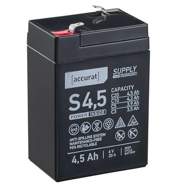 Accurat Supply S4,5 AGM 6V Versorgungsbatterie 4,5Ah...