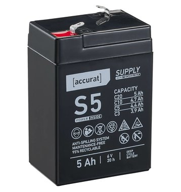 Accurat Supply S5 AGM 6V Bleiakku 5Ah