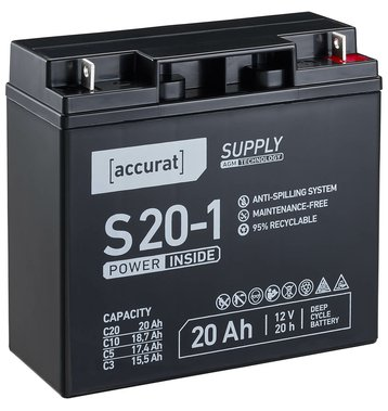 Accurat Supply S20-1 12V AGM Bleiakku F13 20Ah