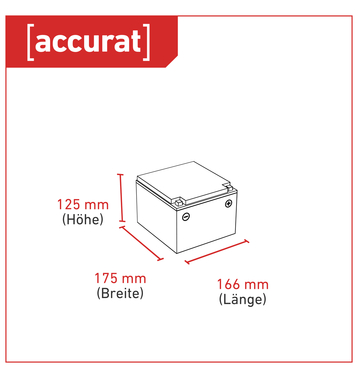 Accurat Supply S28 12V 28Ah AGM Bleiakku