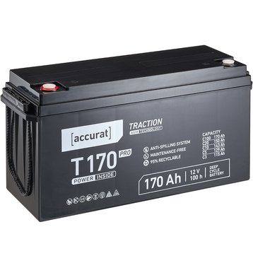 Accurat Traction T170 Pro 12V AGM Bleiakku 170Ah