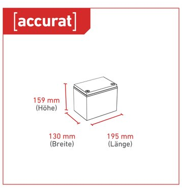 Accurat Traction T40 Pro 12V AGM Bleiakku 40Ah