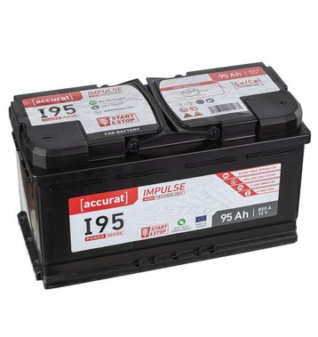 Accurat Impulse I95 Autobatterie 95Ah AGM Start-Stop