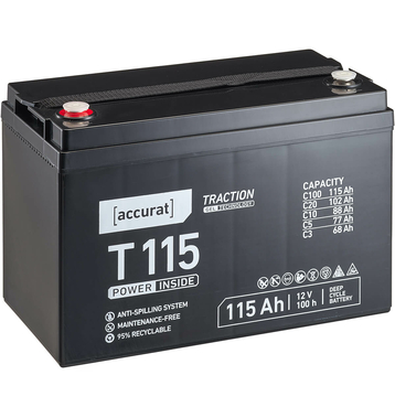 Accurat Traction T115 12V GEL Versorgungsbatterie 115Ah