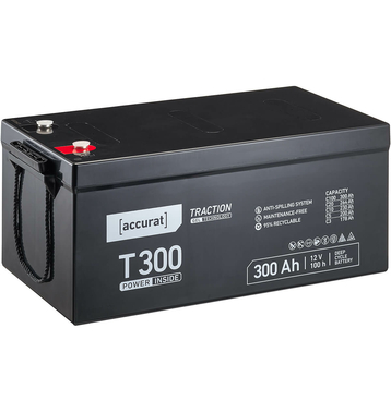 Accurat Traction T300 12V GEL Versorgungsbatterie 300Ah