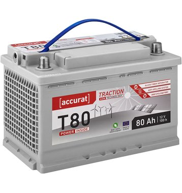 Accurat Traction T80 AGM Versorgungsbatterie 80Ah