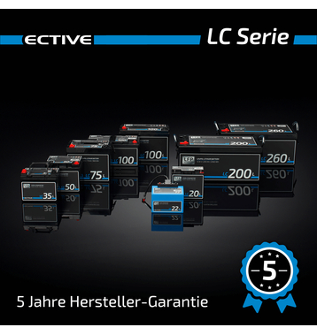 ECTIVE LC 75L 12V LiFePO4 Lithium Versorgungsbatterie 75 Ah