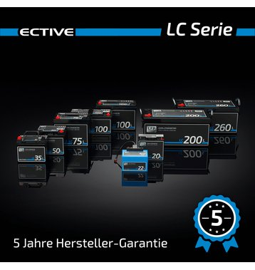 ECTIVE LC 100 12V LiFePO4 Lithium Versorgungsbatterie 100 Ah