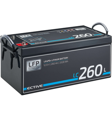 ECTIVE LC 260L 12V LiFePO4 Lithium Versorgungsbatterie 260 Ah