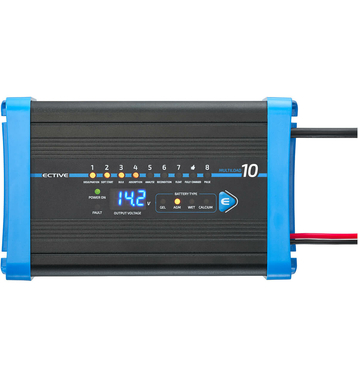 ECTIVE Multiload 10 10A/12V 8-Stufen Batterieladegerät