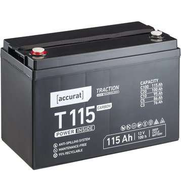 Accurat Traction T115 Carbon AGM Bleiakku 115Ah