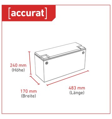 Accurat Traction T170 Carbon AGM Bleiakku 170Ah