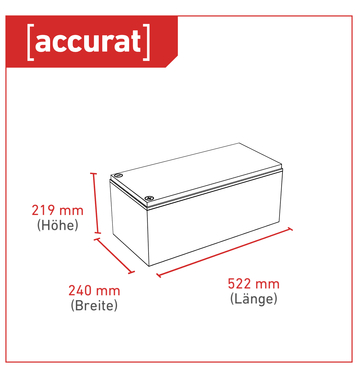 Accurat Traction T250 Carbon AGM Bleiakku 250Ah